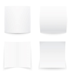 Paper banners on white background soft shadows vector image