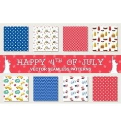 seamless patterns for independence day of America vector image vector image