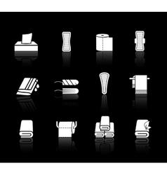 set of towels napkins and feminine hygiene vector image