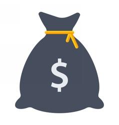 Black Money Bag vector image