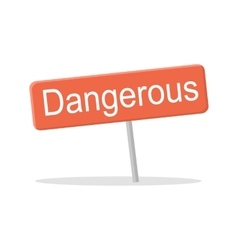 Dangerous Red Shield vector image vector image