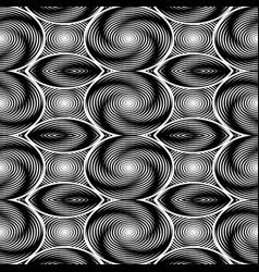 Design seamless monochrome twirl movement vector