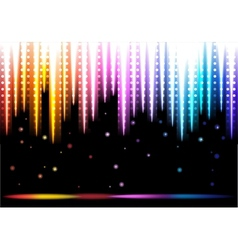 Disco colorful background vector image vector image