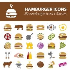 hamburger icons vector image