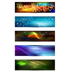 Set of elegant iridescent banners vector image vector image