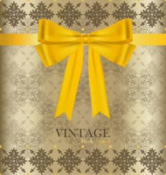 Vintage background with golden ribbon vector image