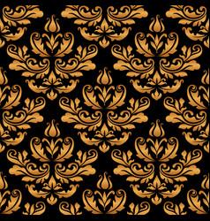 vintage gold damask pattern vector image