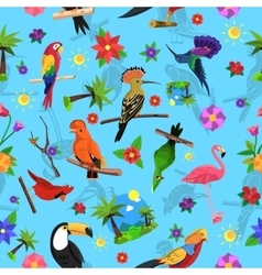 Bird seamless pattern vector