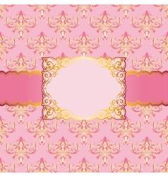 elegant frame for greeting card vector image