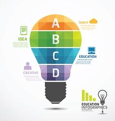 infographic Template geometric Light bulbs banner vector image