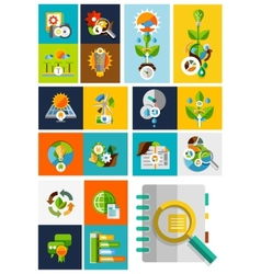 Nature ecology concepts collection vector