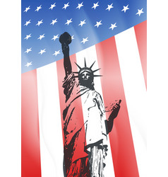 new york and american symbol vector image