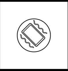 phone vibration line icon mobile sign vector image