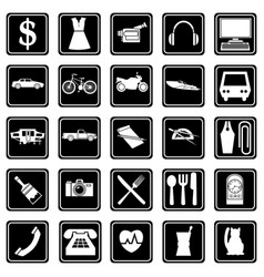 a set icons on theme sales and services vector image