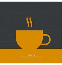 Abstract background with a cup vector image