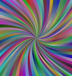 Abstract multicolor spiral design background vector