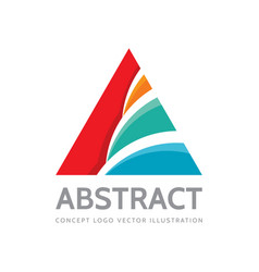 abstract triangle - logo design pyramid vector image