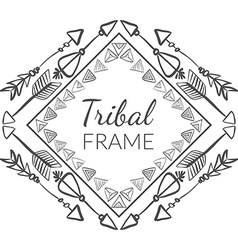 Abstract Tribal Frame vector image