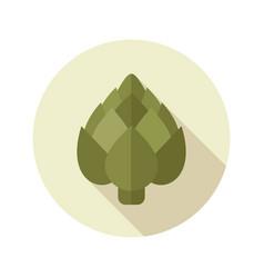 artichoke flat icon vegetable vector image