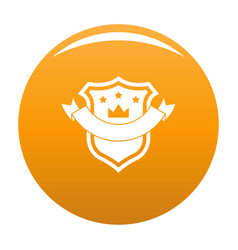 badge quality icon orange vector image