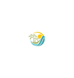 beach logo icon vector image