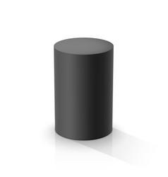 black cylinder vector image