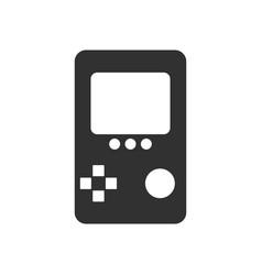 Black icon on white background tetris portable vector