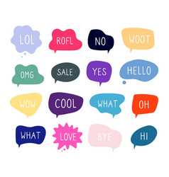 bubble talk phrases online chat clouds with vector image