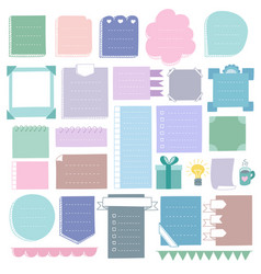 Bullet journal doodle elements vector