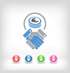 Business agreement - euro vector