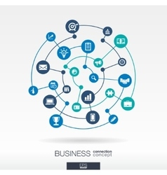 Business connection concept abstract background vector