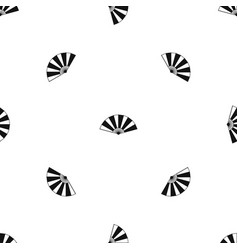 chinese fan pattern seamless black vector image