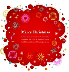 christmas background with cute icons and elements vector image