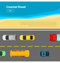 Coastal Road AutoTransport Banner Line Markings vector
