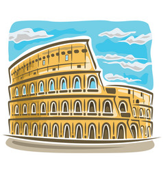 Coliseum in rome vector