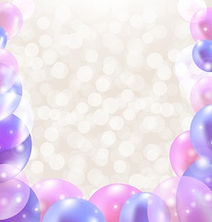 Color Card With Balloons vector image