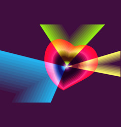conception and visual metaphor of broken heart vector image