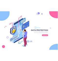 Confidential data protection concept vector