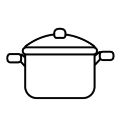 Cooking pan front view graphic vector