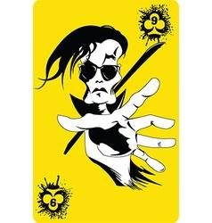 criminal card design vector image