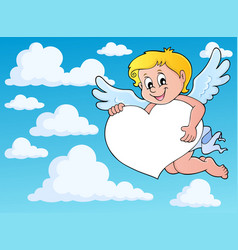 cupid thematics image 8 vector image