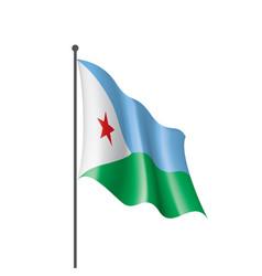 djibouti flag on a white vector image