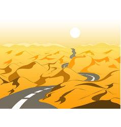 empty road in the desert vector image