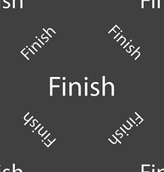 Finish sign icon Power button Seamless pattern on vector