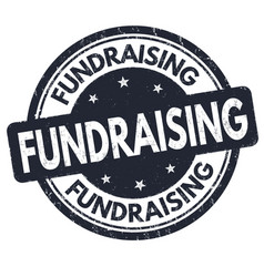 fundraising sign or stamp vector image