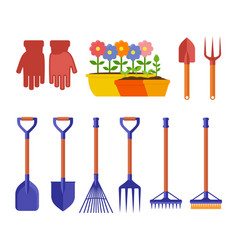 garden isolated equipment vector image