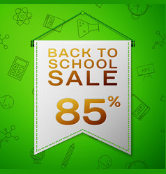 grey pennant back to school sale eighty five vector image