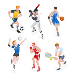 group sports people vector image