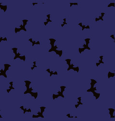 Halloween pattern with bats vector