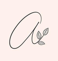 handwritten letter a monogram or logo brand vector image